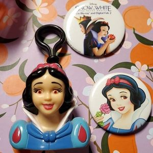 Snow White Keychain & Buttons